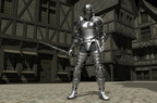 Knight in Medieval City Street