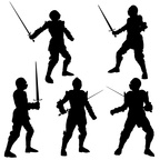 Medieval Knight Silhouettes - 1