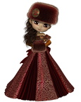 Toon Winter Princess in Red