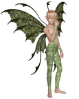 Fairy Boy in Green, Standing