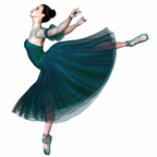 Ballerina in Green - Balancing