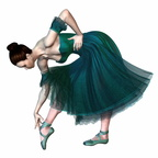 Ballerina in Green