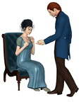 Regency Era Man and Woman