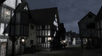 Mediaeval Town Street at Night