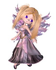 Toon Fairy Princess in Purple Dress