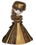 Toon Winter Princess in Gold