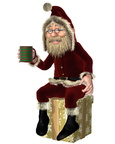 Santa Claus Having a Tea Break