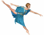 Dancer in Blue - Arabesque