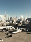 Spaceport in the Future City