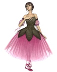 Pink Flower Ballerina in Romantic Tutu